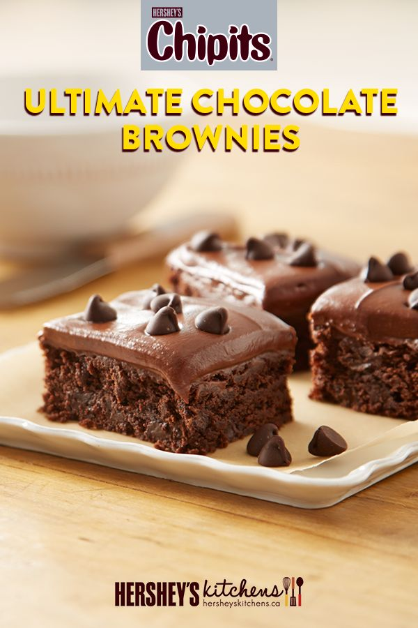 Get excited for CHIPITS Ultimate Chocolate Brownies. These easy-to-make brownies are made with HERSHEY'S Cocoa and CHIPITS Special Dark Chocolate Chips. You'll be amazed at how something so tasty could be so easy to make.