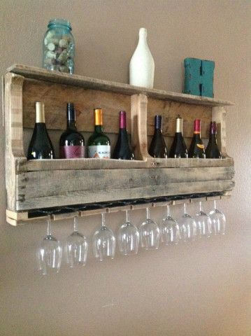 Reclaimed Wood Wine Rack.