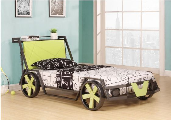 Race Car Bed Twin Bed Frame For Kids Toddlers #WilliamsHomeFurnishing