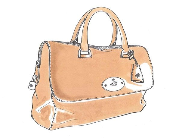 A sketch of the Del Rey in Deer Brown from the Mulberry Design studio.
