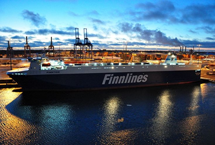 FINNTIDE RO-RO Cargo build year 2012 Gross Tonnage: 28,000 tons Summer DWT: 10,340 tons, Owner Finnlines Helsinki