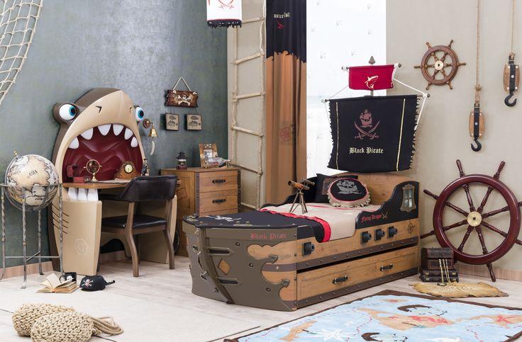Las 25 mejores ideas sobre decoraci n de habitaci n - Cama barco pirata ...