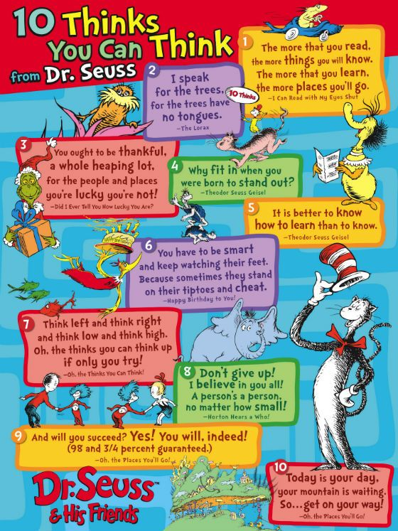 10 Thinks You Can Think from Dr. Seuss + Dr. Seuss Book Club for Kids!
