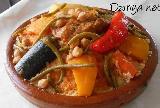 Couscous kabyle aux légumes et au piment (avec sauce)