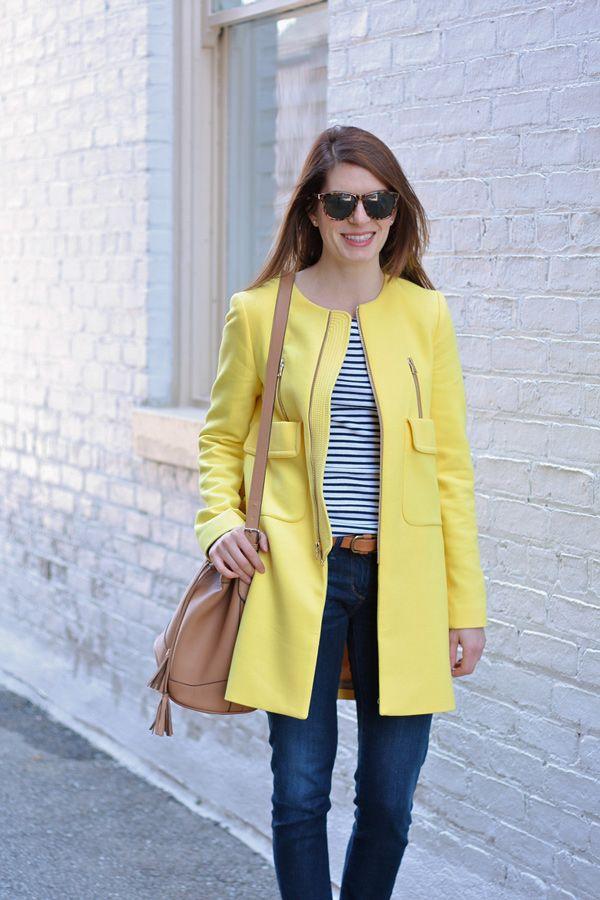 С чем носить желтое пальто (более 60 модных луков) | Каблучок.ру