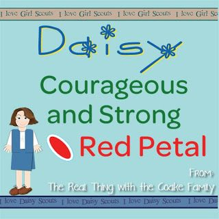 Daisy Girl Scouts ~ Daisy Petals ideas for completing the Red Petal for Courageous and Strong.
