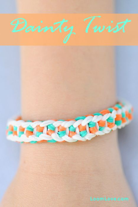 How to Make a Rainbow Loom Dainty Twist #rainbowloom