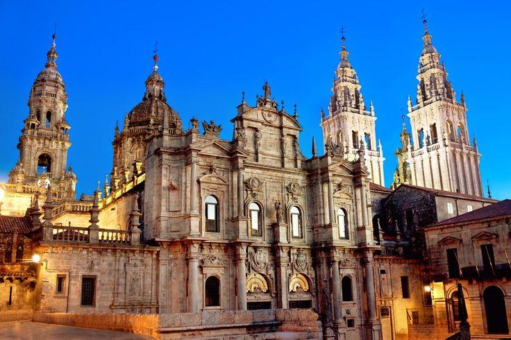 スペイン、サンティアゴ・デ・コンポステーラ(旧市街)