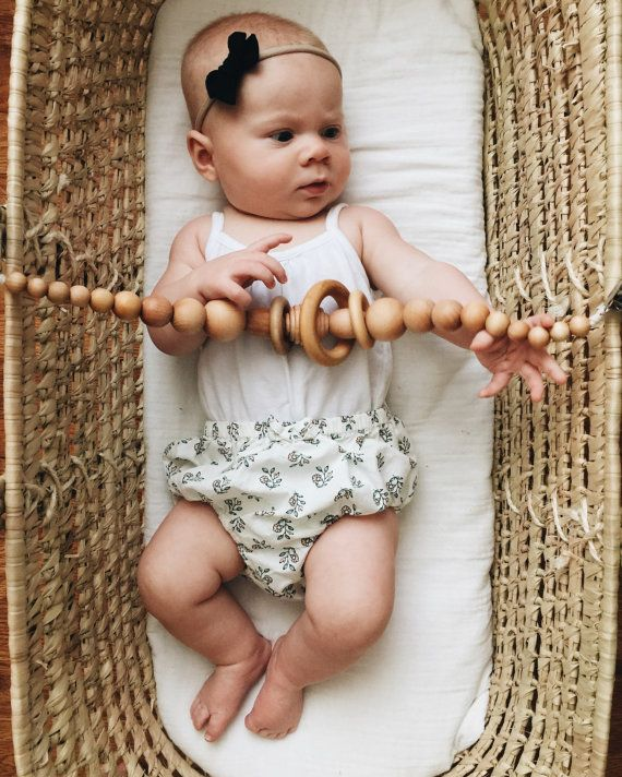 Moses Basket / Stroller Toy Chain by wildcreekco on Etsy