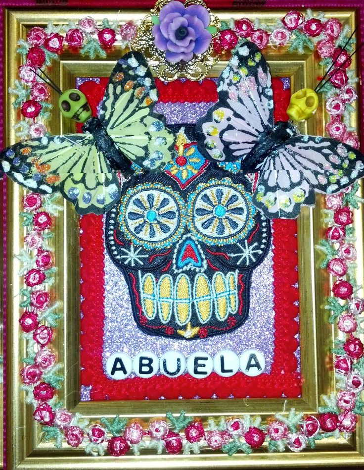 Yoli's Sacred Journey: Tutorial: Crafty Chica Sugar Skull Collage. DIY altar, shrine, DIY, Dia De Los Muertos