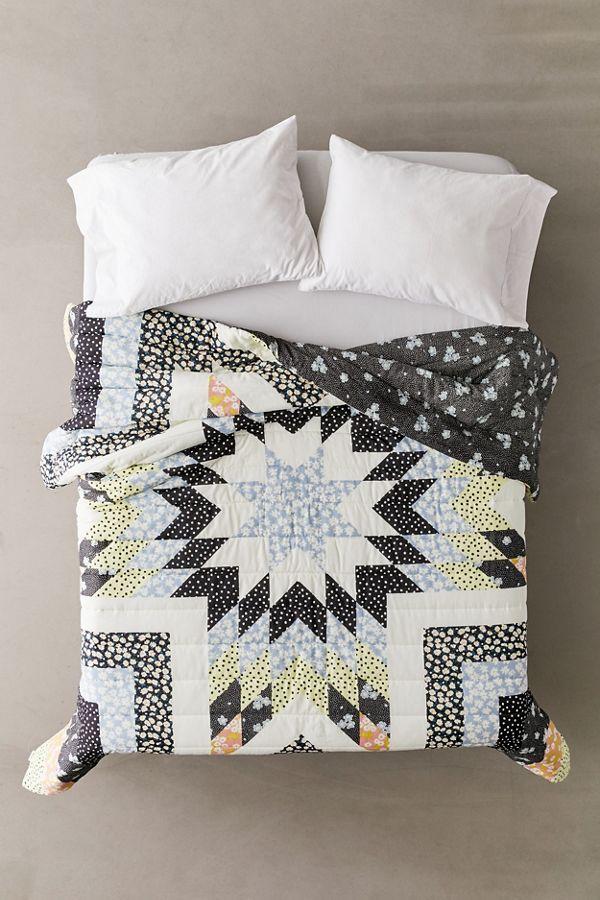 Mixed Print Patchwork Quilt Bed Linens Luxury Bedding Master Bedroom Bed Linen Design