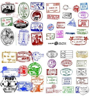 Sellos de pasaportes vectoriales (Vector Passport Stamps)   Recursos 2D.com