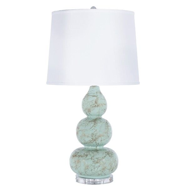 Information worlds away delaney mint table lamp features add a bit of color and texture to your space with the delaney table lamp