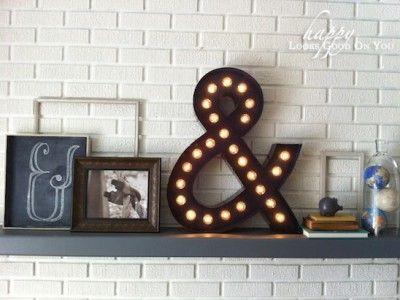 diy ampersand marquee light