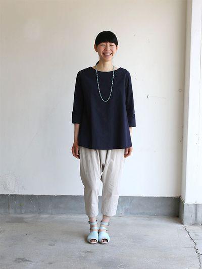 Big tuck blouse/Draw string sarrouel pants 1