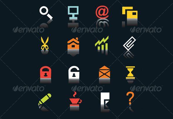 Internet icons with shadows on black background  Button, icon, internet, web, www, logo, media, menu, website, modern, web icon, s