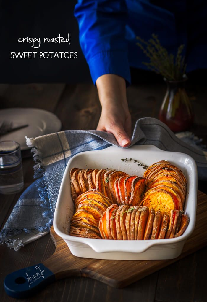 Crispy Roasted Sweet Potatoes. A must on your holiday table - All that's Jas