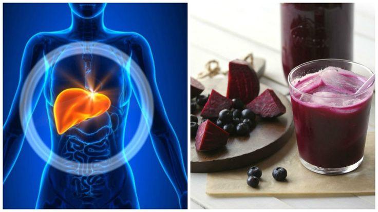 Apoya la desintoxicación de tu hígado con este batido de arándanos y remolacha