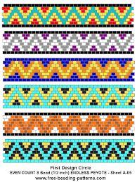 free peyote patterns ile ilgili görsel sonucu
