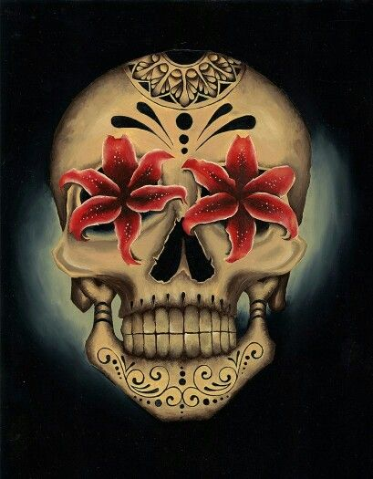 Londis Stargazer by Gabe Londis Mexican Sugar Skull Tattoo Canvas Fine Art Print
