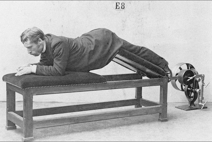 Les ancêtres des machines de sport créées par le Dr Gustav Zander