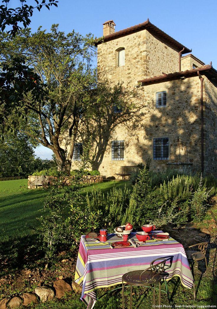 Les extérieurs de la maison d'hôtes en Toscane