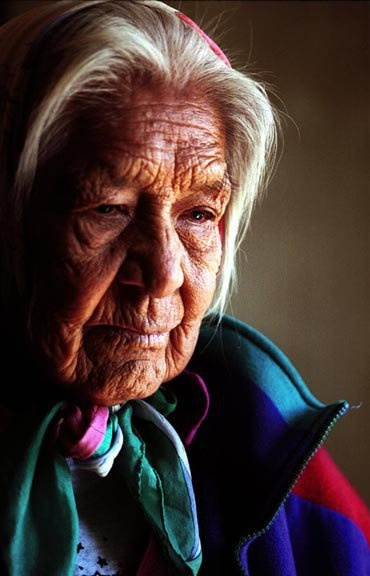 """""""All the suffering going on in this country with the tornadoes, floods, and earthquakes is carried on the breath of Mother Earth because she is in pain,"""" says Roberta Blackgoat, an elder of the Independent Dineh (Navajo) Nation at Big Mountain."""
