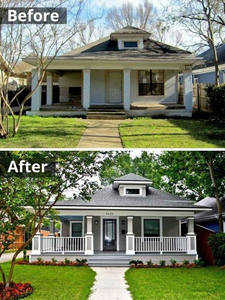 47 best exterior add a gable images on pinterest for How to add curb appeal to a ranch style house