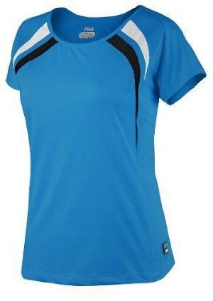 Fila Tennis Women's Center Court Cap Sleeve Shirt by Fila. $43.98. Comfortable Mesh Inserts. Very Stylish. 78% Nylon/ 22% Spandex. F box patch logo. From the Manufacturer                Cap off the morning with this cap sleeve shirt, and then feel free to wear it in the afternoon, or all day, too.                                    Product Description                Cap off the morning with this cap sleeve shirt, and then feel free to wear it in the afternoon, or all da...