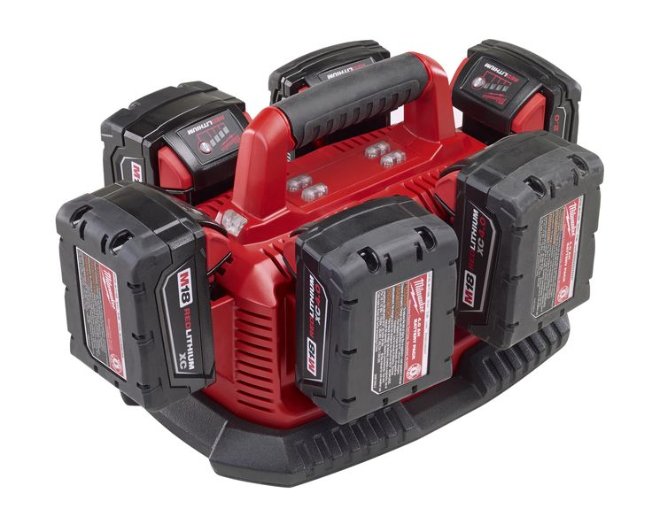 18-volt six pack sequential charger | Milwaukee Tool