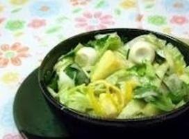 Lettuce and Hardboiled Egg Salad