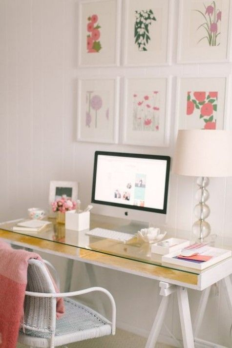 Best Refined Feminine Home Office Decor Ideas Images On