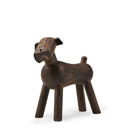 Kay Bojesen Dog Smoked Oak, 7,5 cm