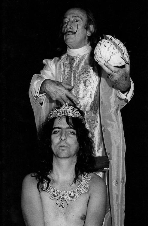 Alice Cooper and Salvador Dali.