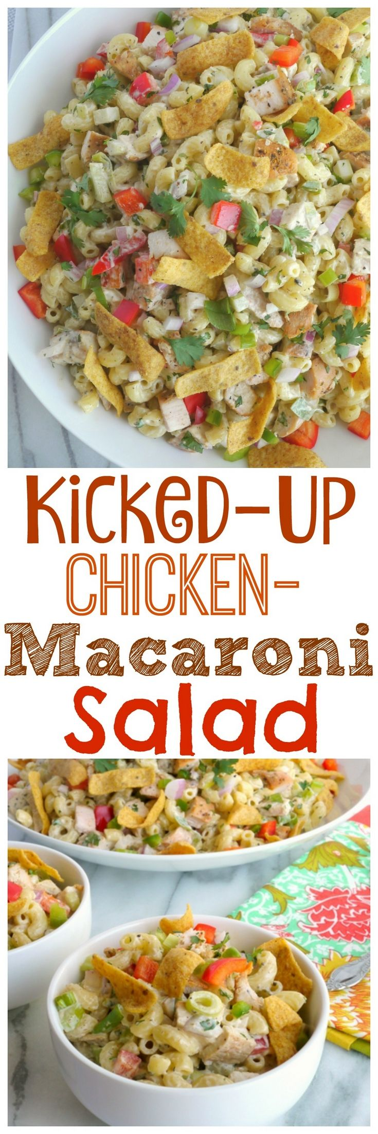 This Kicked-Up Chicken-Macaroni Salad recipe will…