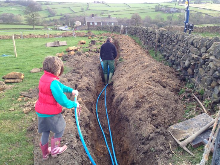 Laying the water pipe