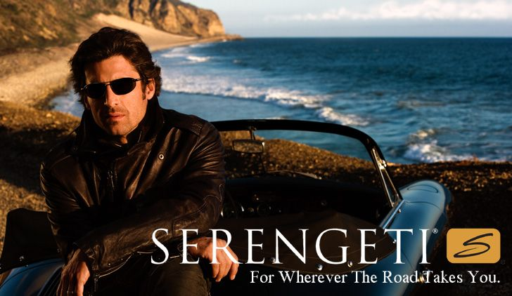 Serengeti sunglasses. Love the company name and colors of the ad.