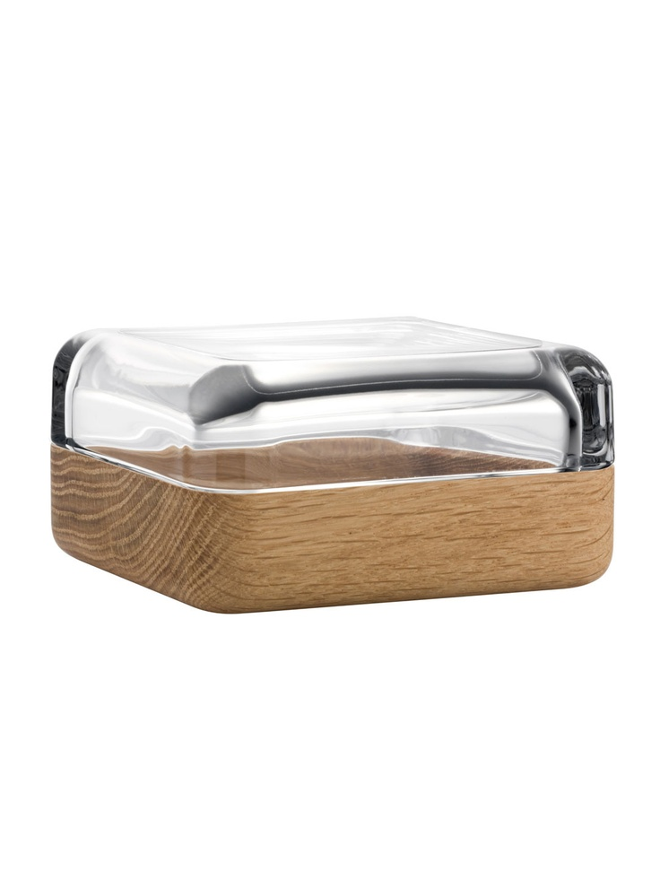 iittala  Vitriini Square Box with Oak