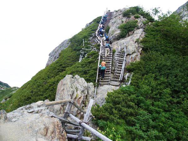 八本歯のコルから北岳 南アルプス登山ルートガイド。Japan Alps mountain climbing route guide