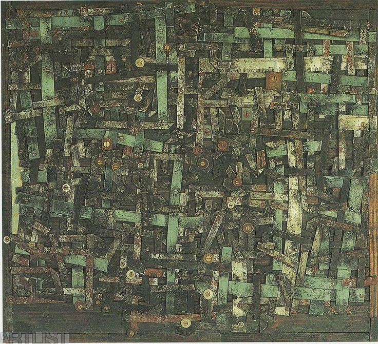Zbyněk Sekal, Neprodyšně, 1964, asambláž, 31,5x41,5 cm