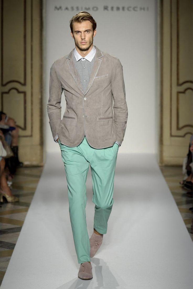 Men Mint Green Pants