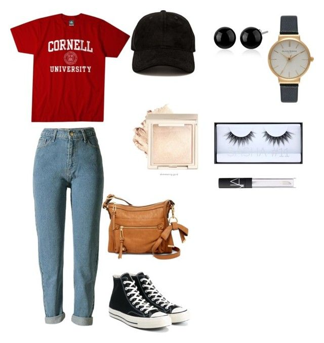 """Andy bernard, The Office"" by jocymendez on Polyvore featuring Converse, Jessica Simpson, Forever 21, Olivia Burton, Huda Beauty and NARS Cosmetics"