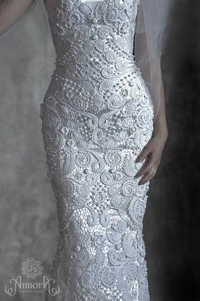 128715b1f05c Pin de Наталья em красота   Crochê, Crochê irlandês e Vestido de noiva  croche