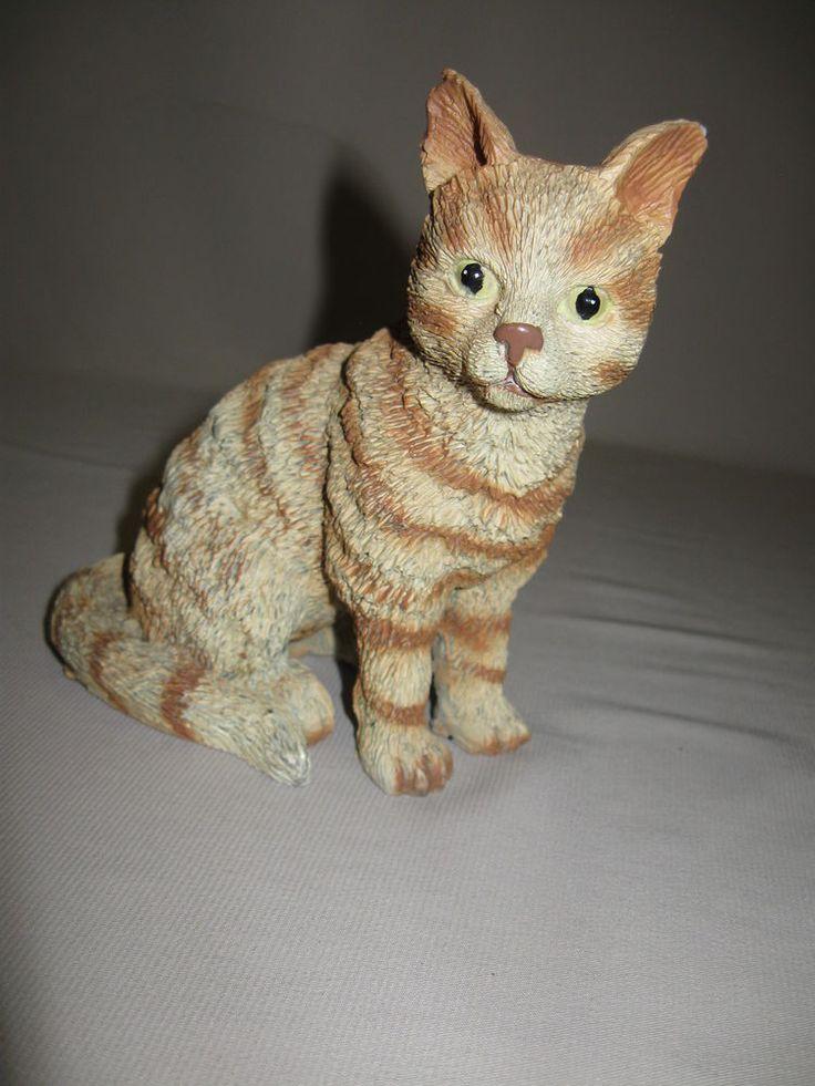 Cat Kitten Figurine Statue Tiger Stripe Cat Texture Material Resin?