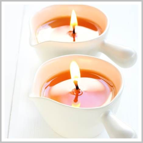 This easy massage candle recipe makes rich, sensual scented massage oil candles perfect for hot oil massage.