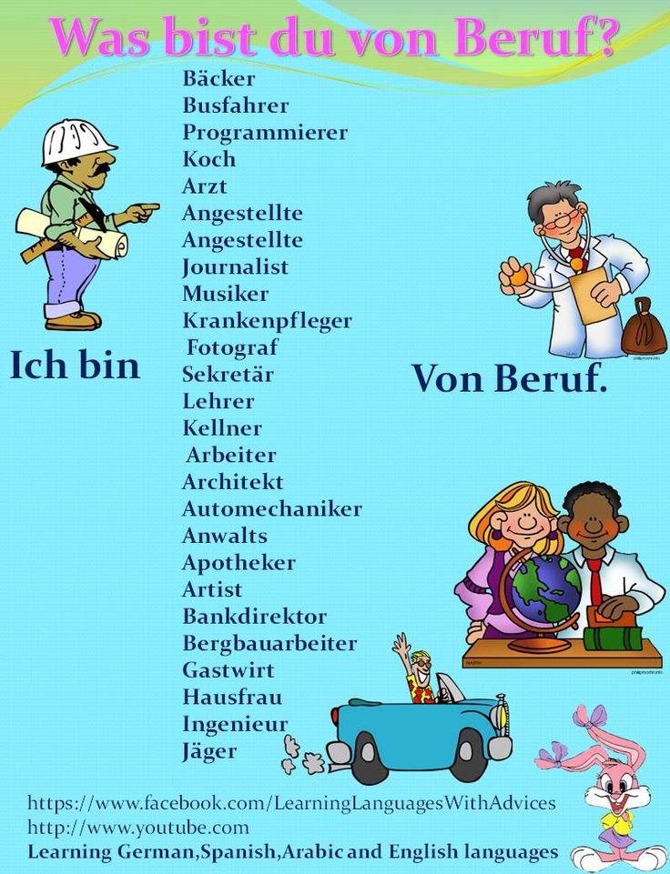 Duits - Deutsch - beroep - Beruf - Wörter - Was bist du von Beruf?