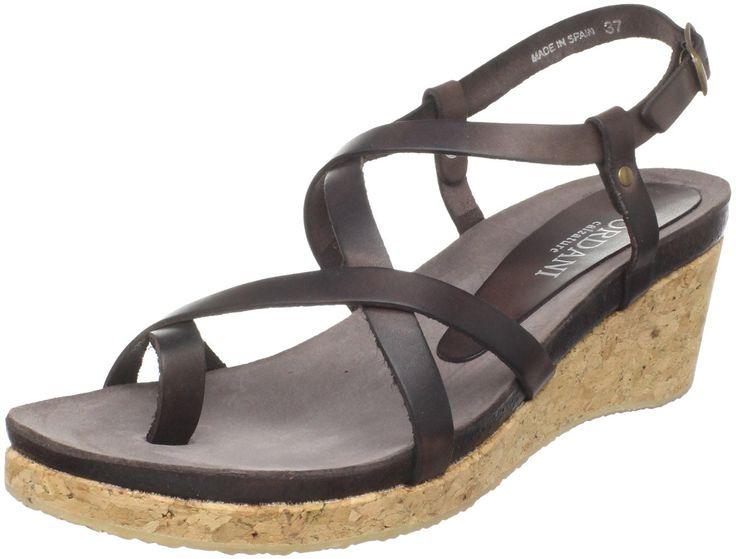 Cordani Women's Shaw-3C Wedge Sandal,Brown,37 EU/6.5-7 M US.