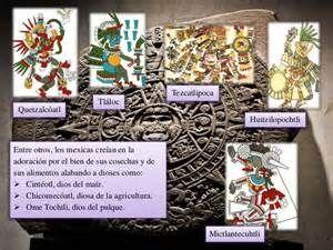 Antes de llegar los aztecas al valle del Anáhuac, ya existían antiguos cultos y diosas del Sol que ellos adoptaron.  Al asimilarlos también cambiaron sus propios dioses, tratando de colocarlos al mismo nivel de los antiguos dioses Nahua, elevando a sus dioses, Huitzilopochtli y Coatlicue, al nivel de las antiguas deidades creadoras, como Tláloc, Quetzalcóatl y Tezcatlipoca. Hutzilopochtli es considerado como el dios más importante, ya que, los aztecas, se consideraban un pueblo elegido por…