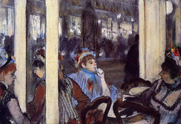 The Athenaeum - Women on a Cafe Terrace in the Evening (Edgar Degas - )