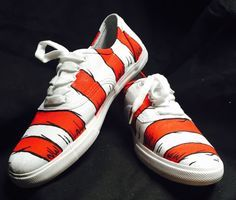 Dr. Seuss Cat In The Hat Shoes by FolieaShoe on Etsy